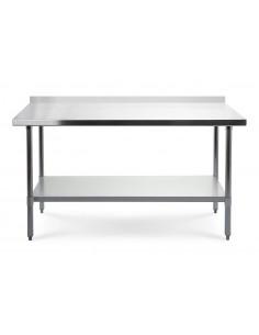 Stół roboczy 180x60 cm z blatem ze stali nierdzewnej + rant przyścienny