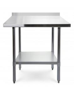 Stół roboczy z rantem przyściennym blat 70x70 cm ze stali nierdzewnej