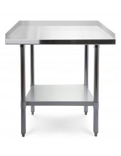 Stół roboczy z 3 rantami blat 70x70 cm ze stali nierdzewnej